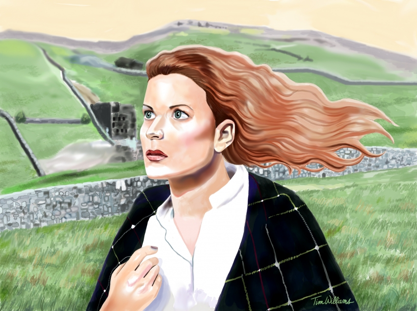 Maureen O'Hara by timwilliamsart